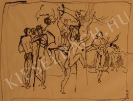 Kernstok Károly - Kompozíció-tanulmány ifjú aktokkal