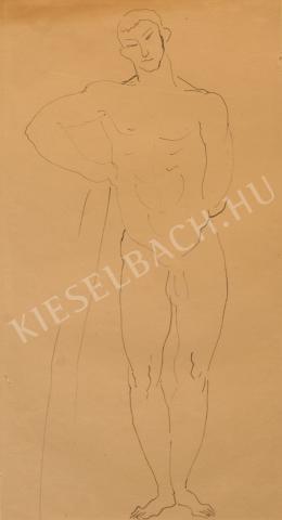 Kernstok Károly - Buzogányára támaszkodó Herkules