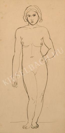 Kernstok, Károly - Standing Female Nude