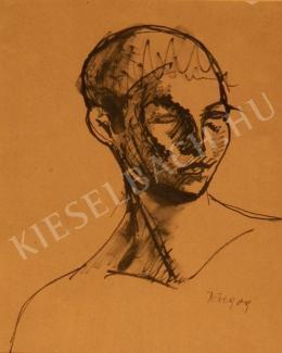Kernstok Károly - Fiúfej, tanulmány a Komor-féle Ifjú fejéhez