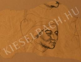 Kernstok Károly - Női fej, tanulmány a Paraszt asszony című képhez