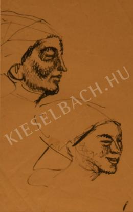 Kernstok Károly - Két női fej, tanulmány