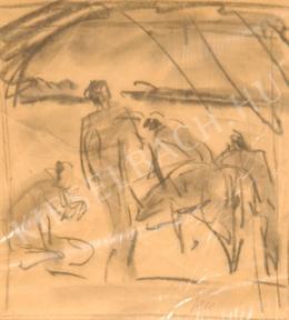 Kernstok Károly - Kompozíció tanulmány a Zivatar című munkához