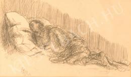 Berény Róbert - Alvó nő