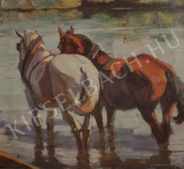 Kieselbach Géza - Lovak a vízben, 1931