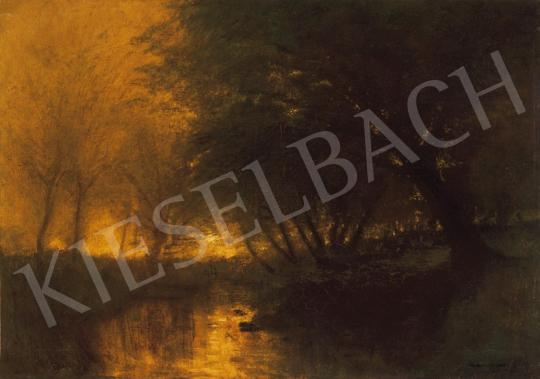 Mednyánszky, László - Riverside with Lights | 20th Auction auction / 43 Item