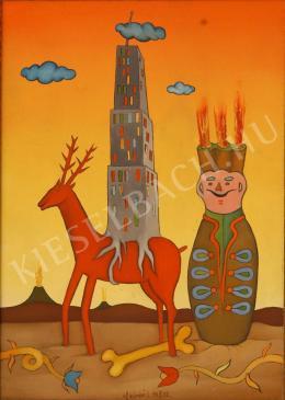 Ef Zámbó, István - Skyscraper Riding a Deer, 1992