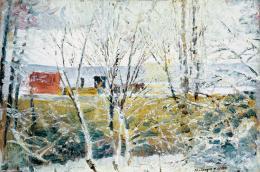 Mednyánszky László - Téli táj (Első hó)