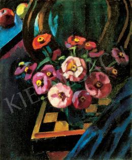Ziffer Sándor - Nagybányai műtermi csendélet Thonet székkel