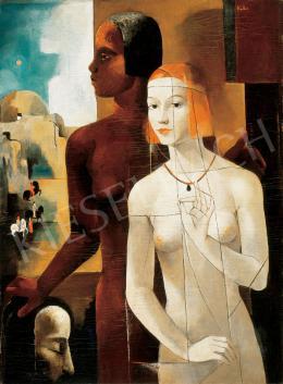Kolbe Mihály - Art deco jelenet (Salome) (1933)