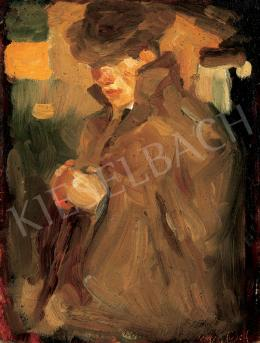 Egry, József - Self - Portrait in Hat