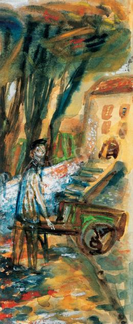 Ámos Imre - A festő szentendrei házak között