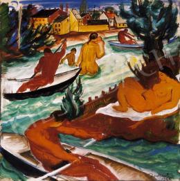 Derkovits, Gyula - In the Boat
