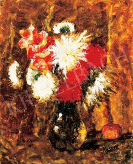 Koszta, József - Still Life of Flowers with Apples