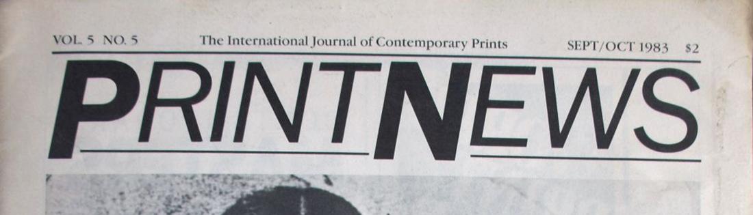 Hegedűs 2 László Képsor c. művének reprodukciója a PrintNews magazin borítóján